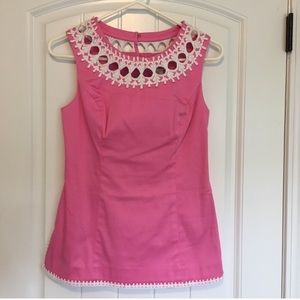 Lilly Pulitzer Pink & White Tunic Size 2 NWT